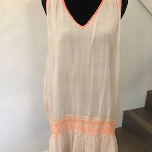 Free People white linen summer dress.